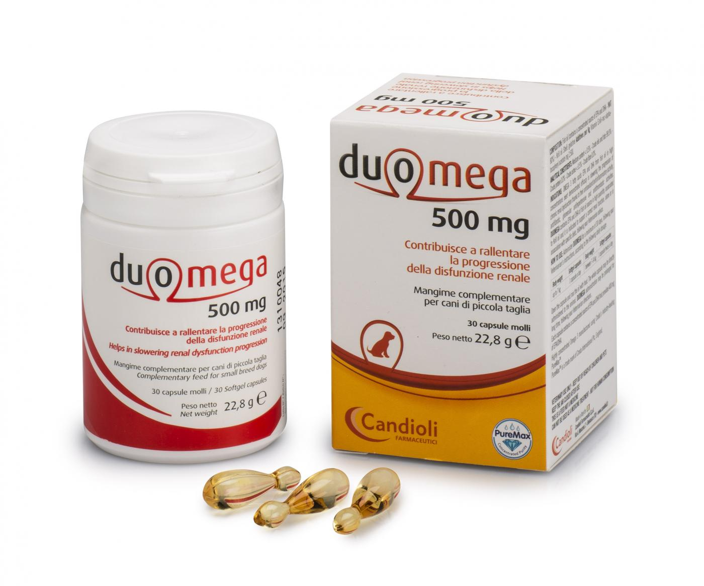 Duomega dogs 30 softgel capsules 500mg - malý pes