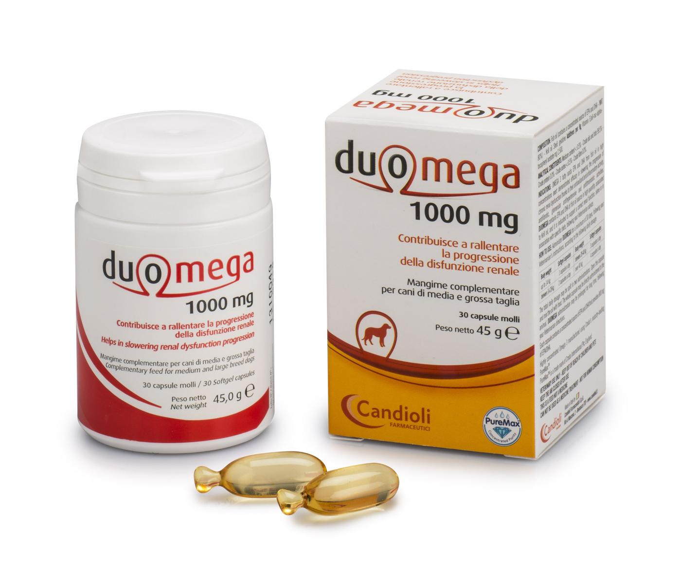 Duomega dogs 30 softgel capsules 1000mg - velký pes